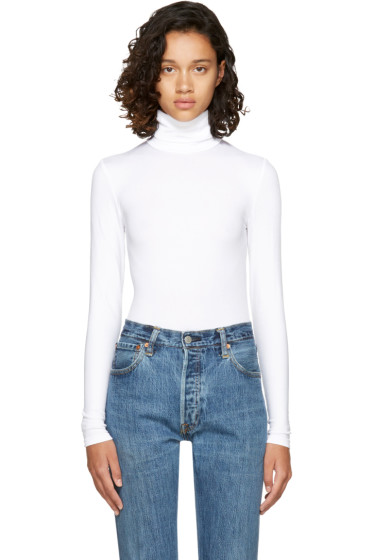 Wolford - White Colorado String Turtleneck Bodysuit