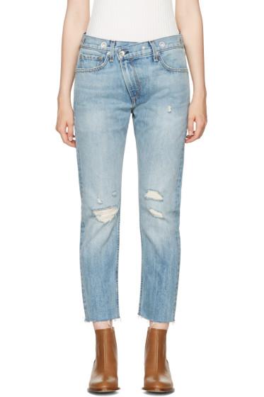 Rag & Bone - Blue Wicked Eyelet Jeans