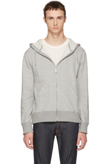 Nudie Jeans - Grey Loke Light Zip Hoodie