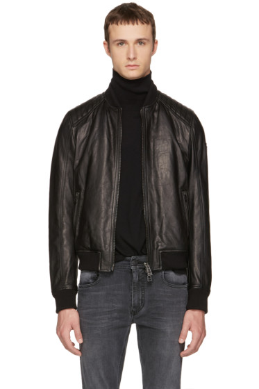 Belstaff - Black Leather Pershall Jacket