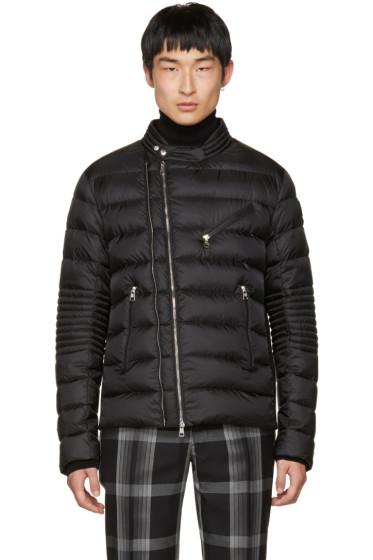 Moncler - Black Down Aubin Biker Jacket