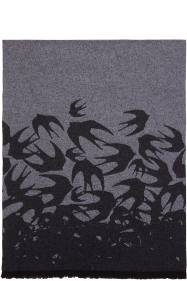 McQ Alexander McQueen - Grey Swallow Dégradé Scarf