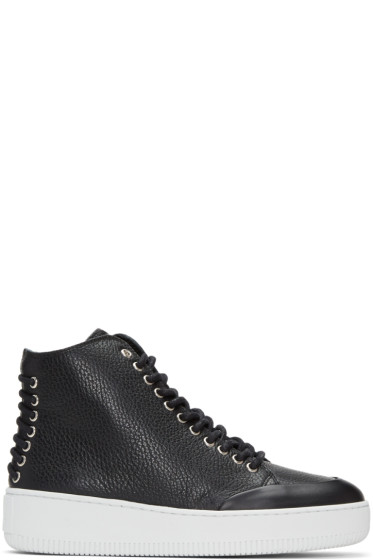 McQ Alexander McQueen - Black Netil Eyelet High-Top Sneakers
