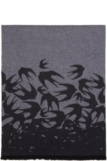McQ Alexander McQueen - Grey Swallow Scarf