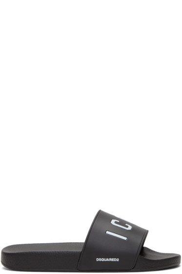 Dsquared2 - Black 'Icon' Slides