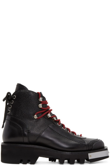 Dsquared2 - Black Lace-Up Hiker Boots