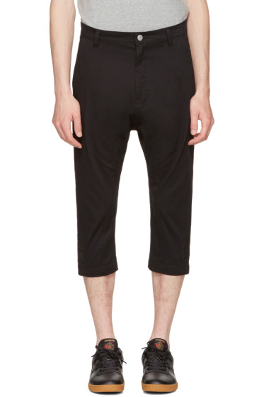 Helmut Lang - Black Taped Crop Trousers