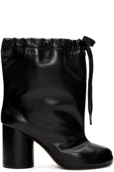 Maison Margiela - Black Drawstring Tabi Boots