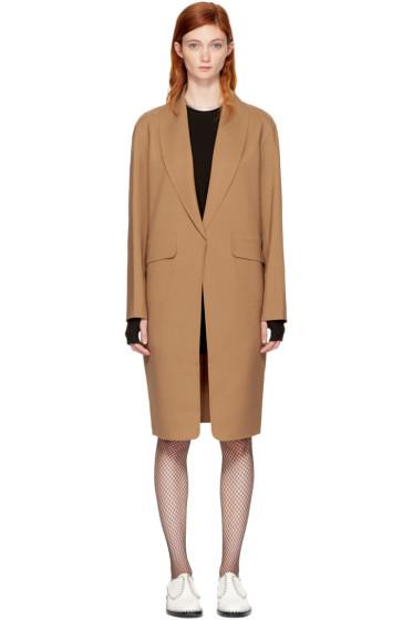 Alexander Wang - Tan Oversized Straight Cut Coat
