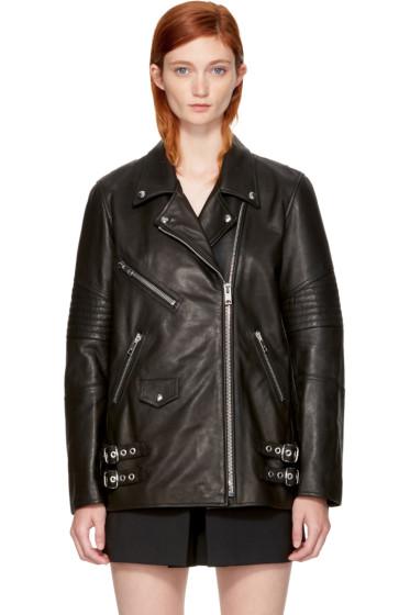 Alexander Wang - Black Leather Classic Biker Jacket