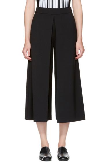 Alexander Wang - Black High-Waisted Fold Front Culottes