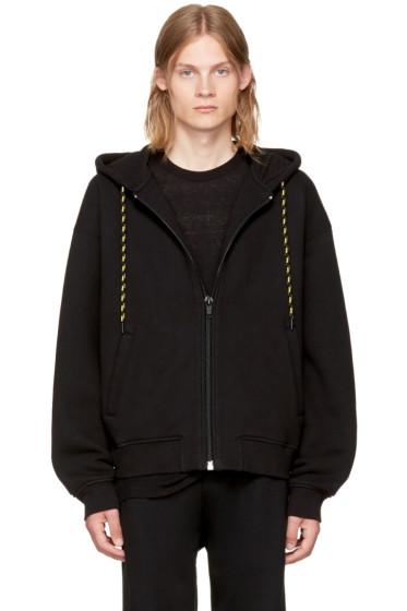 Alexander Wang - Black Dense Fleece Zip-Up Hoodie
