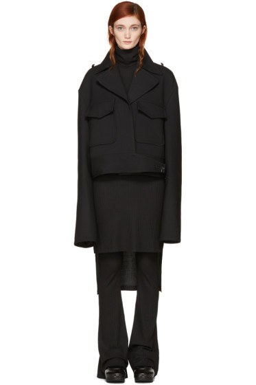 MM6 Maison Margiela - Black Oversized Jacket