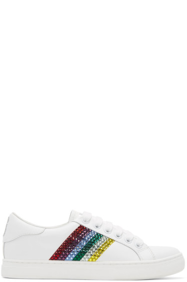 Marc Jacobs - White & Multicolor Empire Strass Sneakers