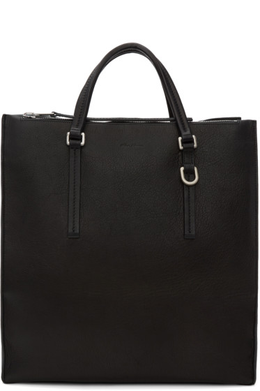 Rick Owens - Black Edith Vertical Shopper Tote