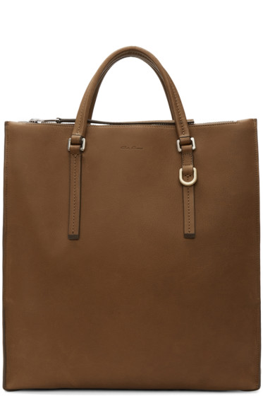 Rick Owens - Brown Edith Vertical Shopper Tote
