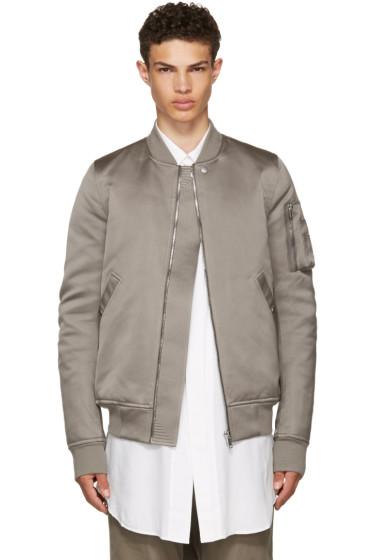 Rick Owens - Grey Down Flight Bomber Jacket
