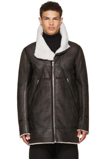 Rick Owens - Black Shearling Showtek Jacket