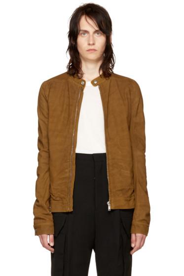 Rick Owens - Tan Leather Rick's Jacket