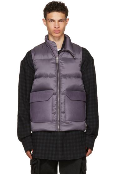 Rick Owens - Purple Down Mollino Vest