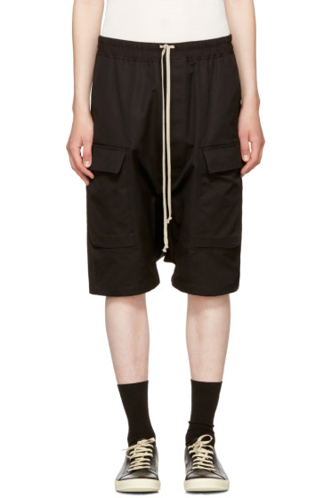 Rick Owens - Black Cargo Pods Shorts