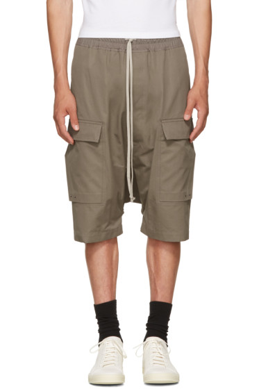 Rick Owens - Grey Pods Cargo Shorts