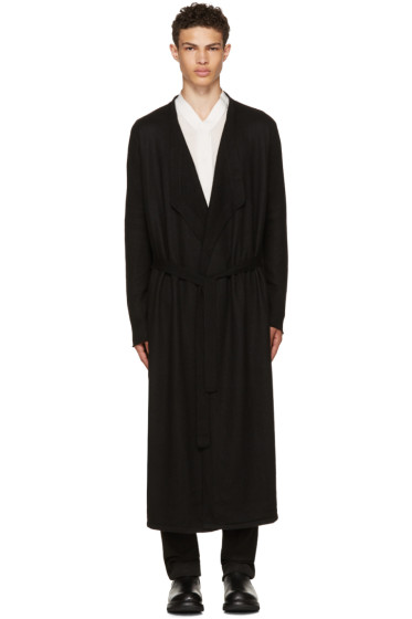 Rick Owens - Black Long Cashmere Cardigan