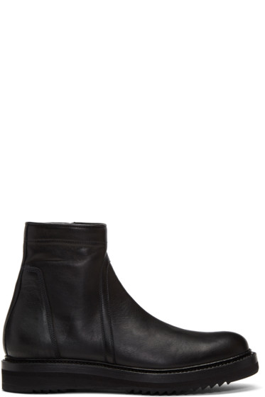 Rick Owens - Black Low Creeper Zip Boots