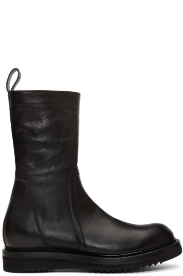 Rick Owens - Black Creeper Lace-Up Boots