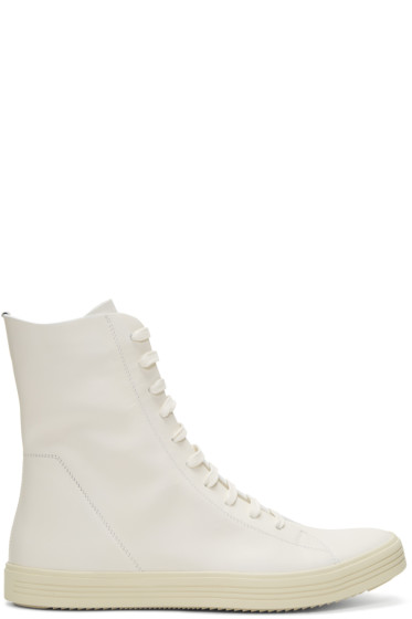 Rick Owens - Off-White Mastodon High-Top Sneakers