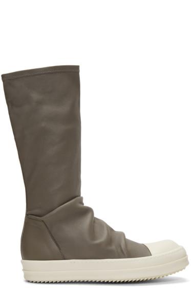 Rick Owens - Grey Sock High-Top Sneakers