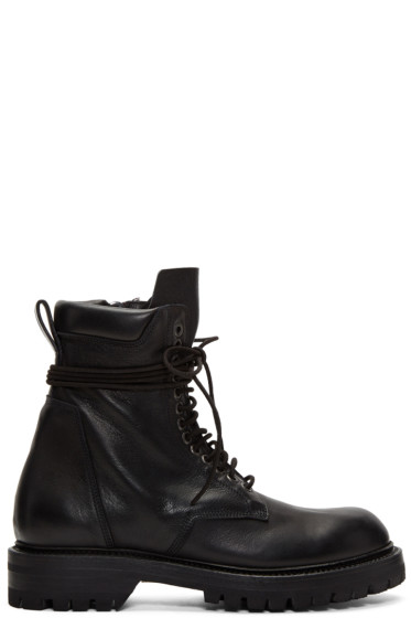 Rick Owens - Black Low Army Boots