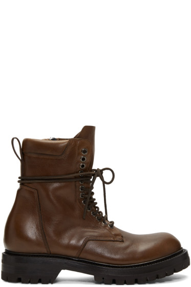 Rick Owens - Brown Low Army Boots