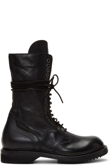 Rick Owens - Black Army Boots