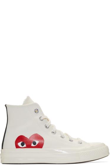 Comme des Garçons Play - オフホワイト Converse Edition Chuck Taylor オールスター 70' ハイトップ スニーカー
