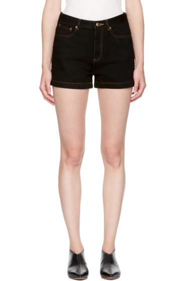 A.P.C. - Black Denim High Standard Shorts