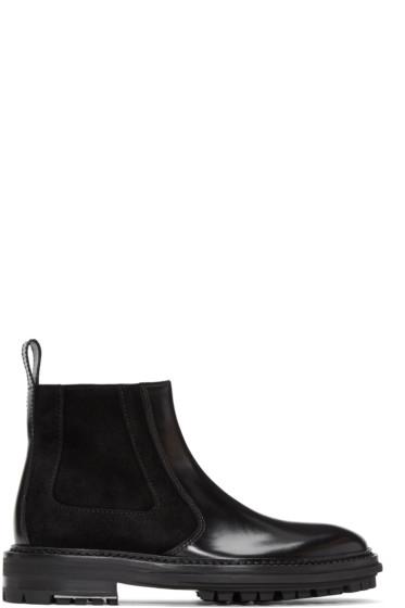Lanvin - Black Leather & Suede Chelsea Boots