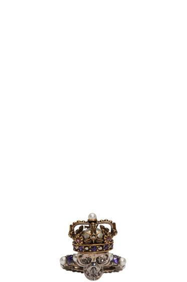 Alexander McQueen - Silver King Skull Ring