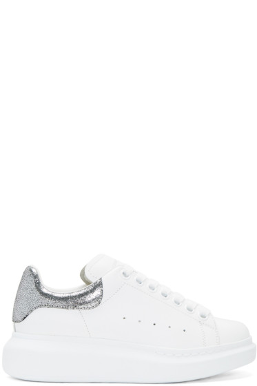 Alexander McQueen - White & Silver Oversized Sneakers