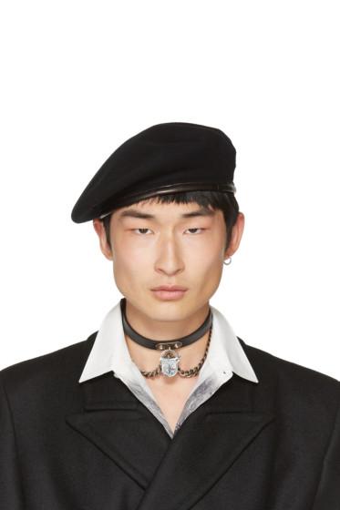 Alexander McQueen - Black Wool Beret