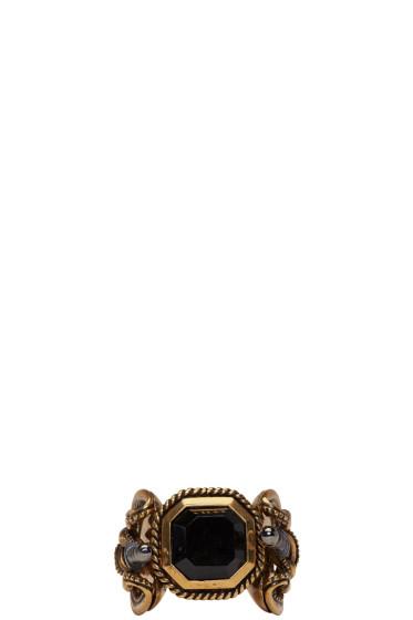 Alexander McQueen - Gold Snake & Dagger Ring