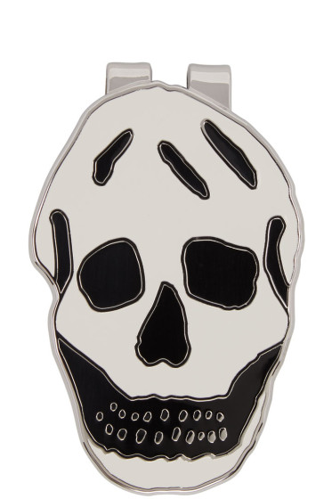 Alexander McQueen - White Skull Money Clip