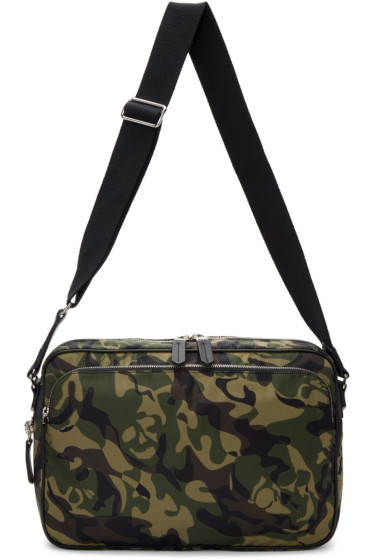 Alexander McQueen - Green Camo Messenger Bag