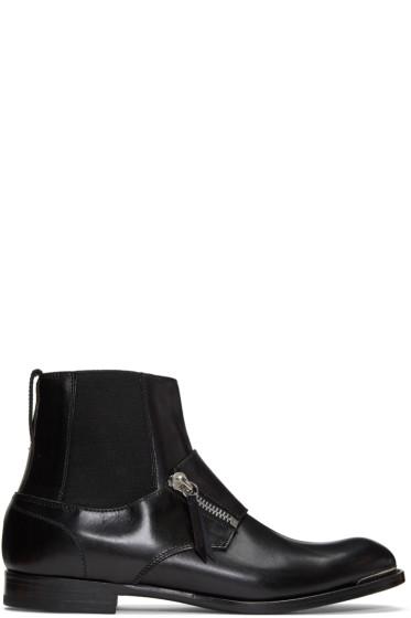 Alexander McQueen - Black Leather Chelsea Boots