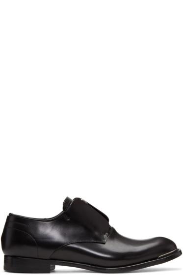 Alexander McQueen - Black Zip Oxfords