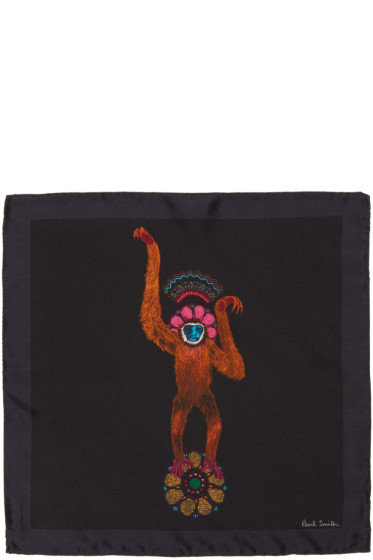 Paul Smith - Black Mainline Monkey Pocket Square