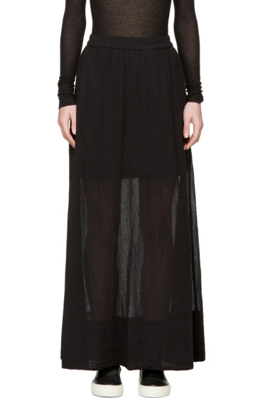 Raquel Allegra - Black Gauze Maxi Skirt