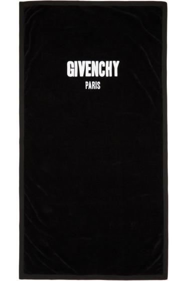 Givenchy - Black Logo Towel