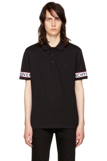 Givenchy - Black Logo Sleeve Polo