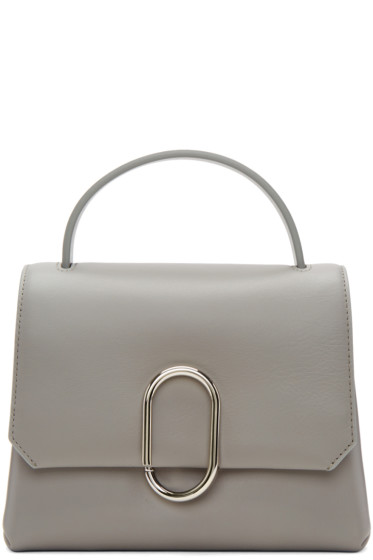 3.1 Phillip Lim - Grey Mini Alix Top Handle Satchel